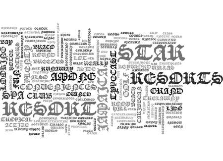 JAMAICA RESORTS Text Background Word Cloud Concept