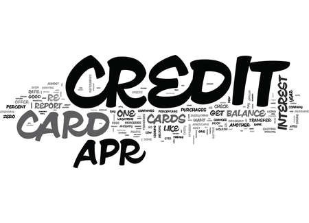 IT S EASY TO FIND A APR CREDIT CARD Text Background Word Cloud Concept Ilustração