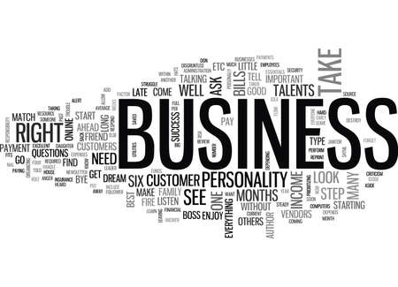 IS THIS BUSINESS RIGHT FOR YOU Text Background Word Cloud Concept