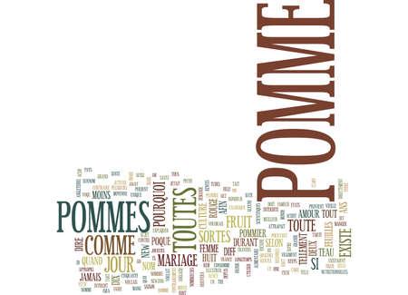 LA POMME EST MAGIQUE Text Background Word Cloud Concept Illustration