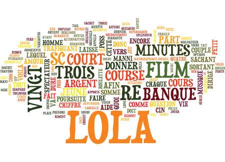 LE JEU ROULETTE SAUVE LOLA Text Background Word Cloud Concept