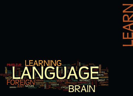 LEARN ANY LANGUAGE IN DAYS WAYS TO QUICKLY MASTER A FOREIGN LANGUAGE Text Background Word Cloud Concept
