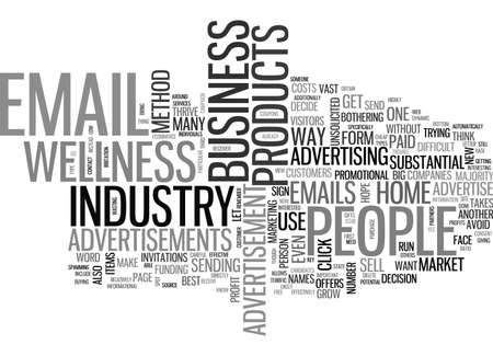 IS EMAIL ADVERTISEMENTS A BUSINESS Text Background Word Cloud Concept Illustration