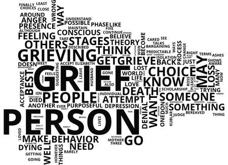 GRIEF LOSS Text Background Word Cloud Concept Illustration