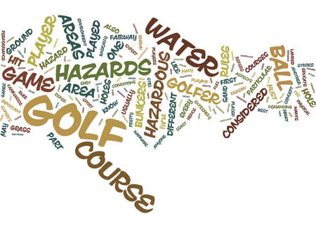 KNOW YOUR COURSE FAIRWAYS Text Background Word Cloud Concept Illusztráció