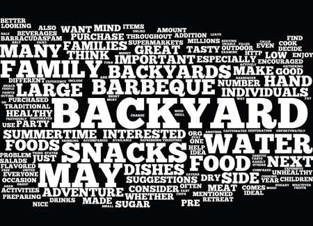 あなた次の裏庭冒険テキスト背景単語クラウドの概念は素晴らしい食品  イラスト・ベクター素材