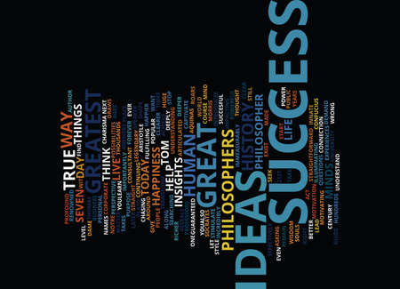 GREAT SUCCESS IDEAS Text Background Word Cloud Concept Illustration