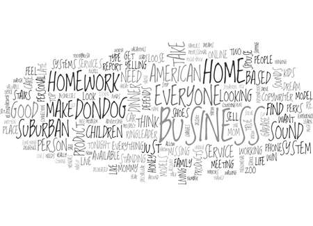 IS HOME BASED BUSINESS FOR YOU Text Background Word Cloud Concept