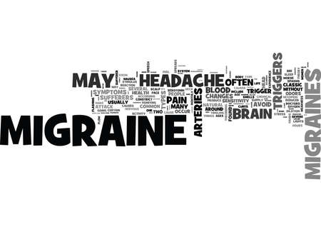 IS THIS A MIGRAINE HEADACHE Text Background Word Cloud Concept Ilustração
