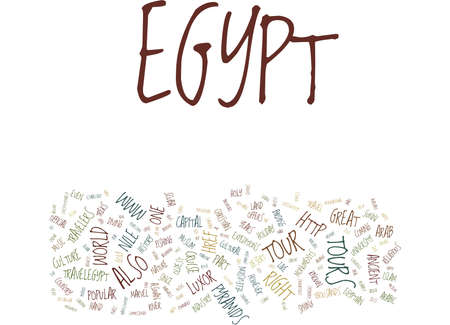 GREAT TOUR TO EGYPT AND ITS HISTORY Text Background Word Cloud Concept