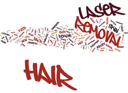 LASER HAIR REMOVAL NEW JERSEY STYLE Text Background Word Cloud Concept Illustration