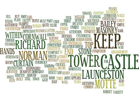 LAUNCESTON CASTLE Text Background Word Cloud Concept