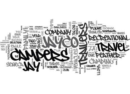 JAYCO CAMPERS Text Background Word Cloud Concept