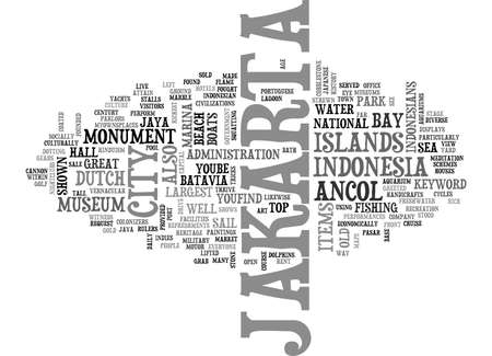 JAKARTA Text Background Word Cloud Concept Illustration