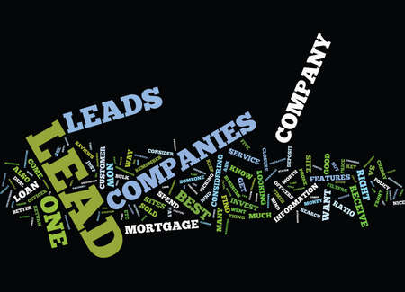 perceived: LEAD COMPANIES FEATURES TO CONSIDER Text Background Word Cloud Concept