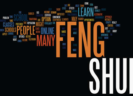 LEARN FENG SHUI Text Background Word Cloud Concept