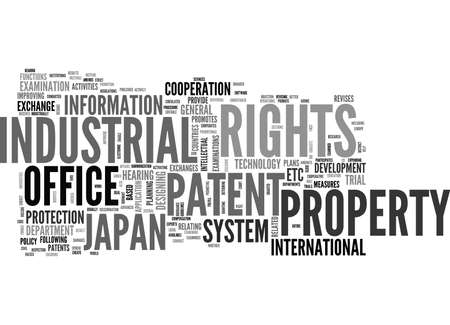 JAPAN PATENT OFFICE Text Background Word Cloud Concept Illustration