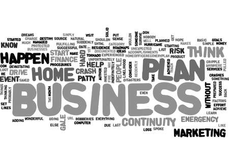 contemplate: IS YOUR HOME BUSINESS PREPARED Text Background Word Cloud Concept Illustration