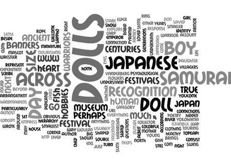 JAPANESE DOLLS BOY S DAY FESTIVAL IN JAPAN Text Background Word Cloud Concept