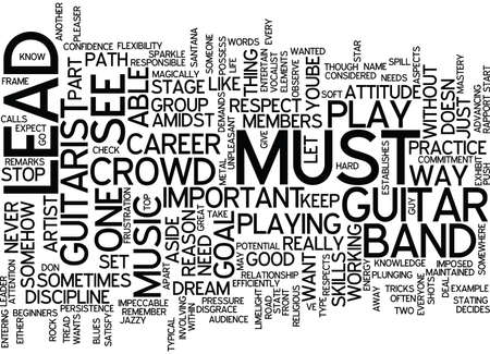 LEARN PLAY LEAD GUITAR Text Background Word Cloud Concept