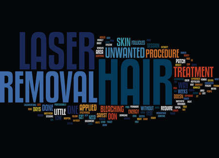 LASER HAIR REMOVAL VERSUS ELECTROLYSIS Text Background Word Cloud Concept