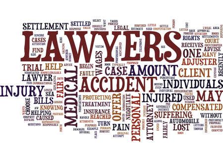 弁護士彼らはけが集落本文背景単語雲概念を交渉する方法  イラスト・ベクター素材