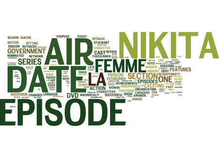 LA FEMME NIKITA DVD REVIEW Text Background Word Cloud Concept