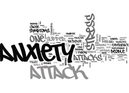 IS IT STRESS OR AN ANXIETY ATTACK Text Background Word Cloud Concept Ilustração