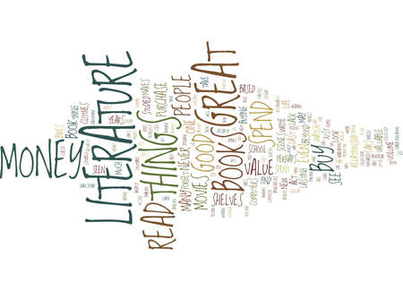 GREAT LITERATURE A GREAT BUY Text Background Word Cloud Concept