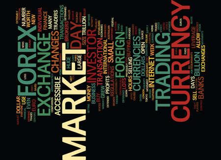 FOREX 시장에 소개하는 CURRENCY 무역을 배우십시오 원본 배경 낱말 구름 개념 일러스트