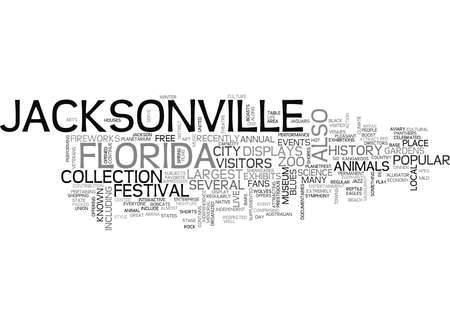 JACKSONVILLE FLORIDA Text Background Word Cloud Concept Illustration