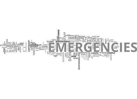 IT EMERGENCIES HOW TO PLAN FOR THEM Text Background Word Cloud Concept