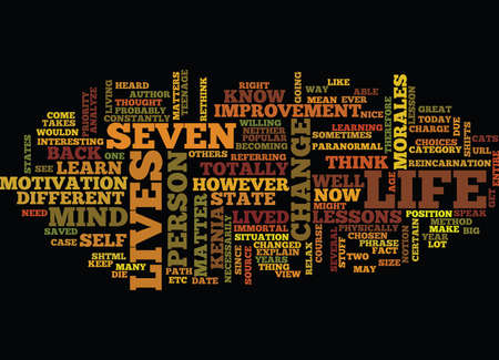 LEARN HOW TO GET SEVEN LIVES Text Background Word Cloud Concept