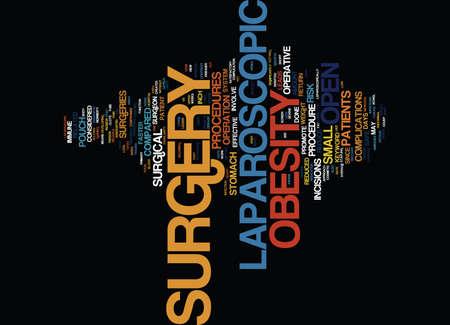 LAPAROSCOPIC OBESITY SURGERY Text Background Word Cloud Concept