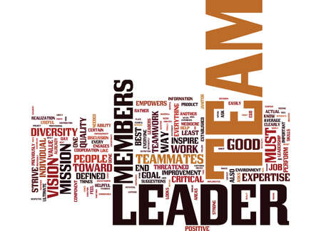 LEADERSHIP TEAMWORK Text Background Word Cloud Concept