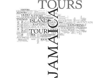 JAMAICA TOURS Text Background Word Cloud Concept
