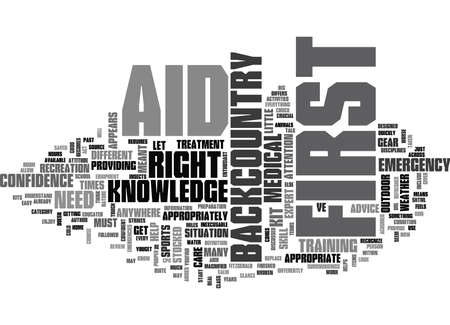 IS FIRST AID DIFFERENT IN THE BACKCOUNTRY Text Background Word Cloud Concept