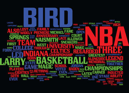 LARRY LEGEND Text Background Word Cloud Concept Illustration