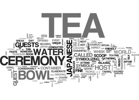 JAPANESE TEA CEREMONY Text Background Word Cloud Concept