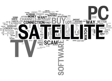 IS TV ON PC A SCAM Text Background Word Cloud Concept Illustration
