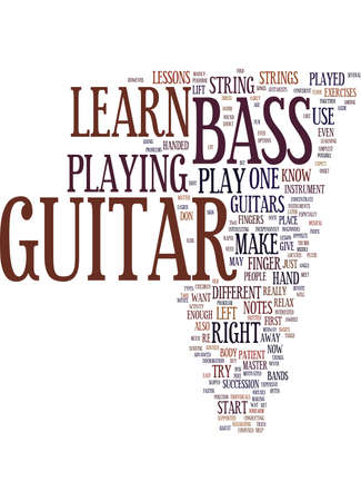 forearm: LEARN BASS GUITAR Text Background Word Cloud Concept