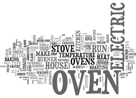 IT S ONLY AN OVEN Text Background Word Cloud Concept