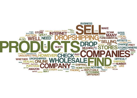 GREAT TIPS TO HELP YOU FIND PRODUCTS TO SELL Text Background Word Cloud Concept