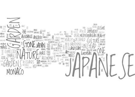 JAPANESE GARDEN OF MONACO Text Background Word Cloud Concept