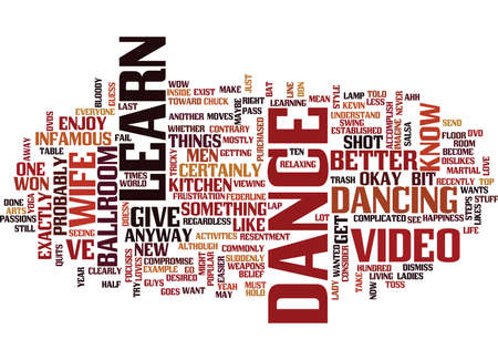 LEARN TO DANCE VIDEO Text Background Word Cloud Concept
