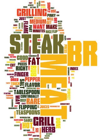 GRILL YOUR STEAK THE RIGHT WAY Text Background Word Cloud Concept