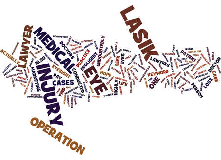 LASIK INJURY LAWYER Text Background Word Cloud Concept