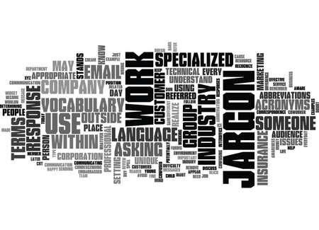 JARGON AWARENESS IN EMAIL MESSAGES Text Background Word Cloud Concept Çizim