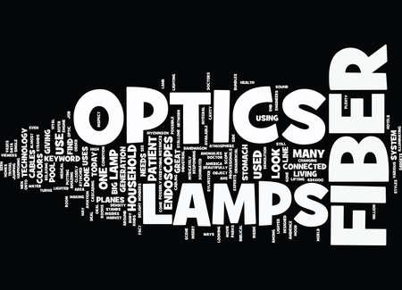 LAMPS FOR FIBER OPTICS Text Background Word Cloud Concept Illustration