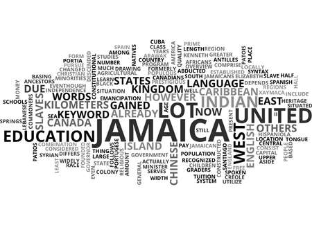 JAMAICA VILLAS Text Background Word Cloud Concept